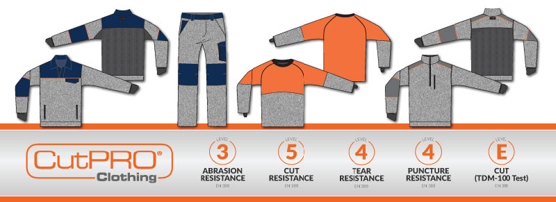 CutPRO cut resistant clothing workwear and ppe