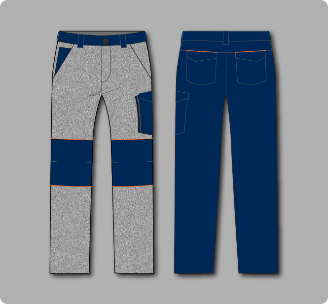 Workwear trousers graphic