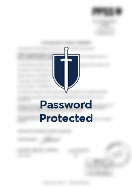 Password protected PDF thumbnail