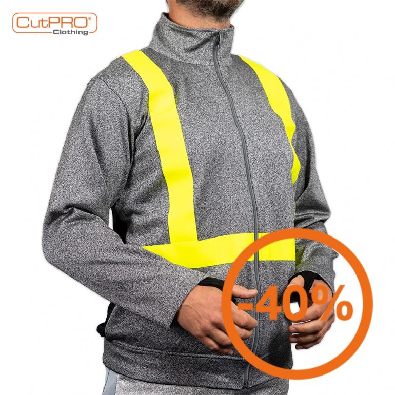 Turtleneck Jacket with Tape & Breathable Back