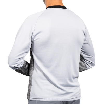 Top with Half Zip Neck and Belly Patch rear