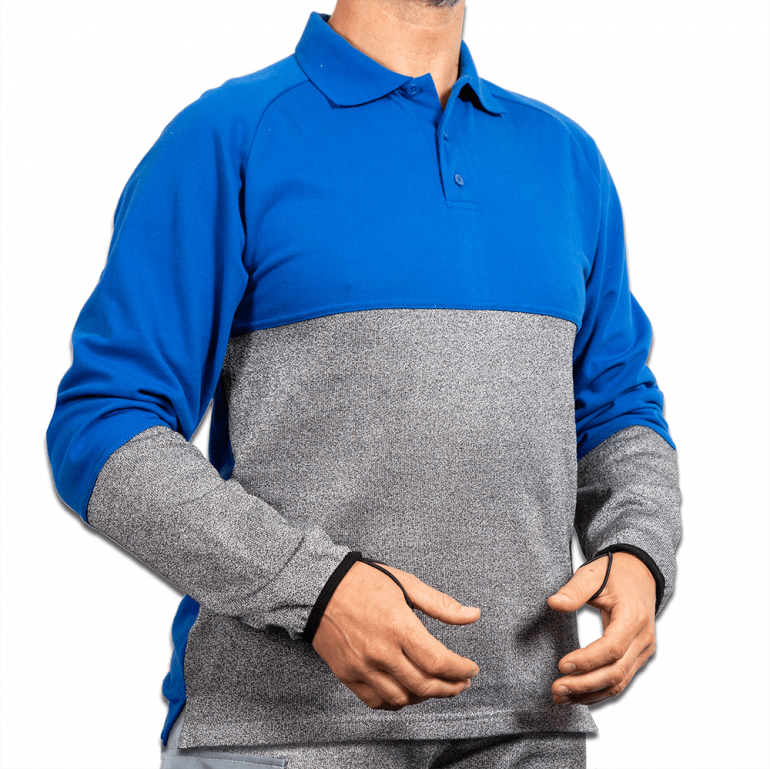 Cut Resistant Polo Shirt with Belly Patch