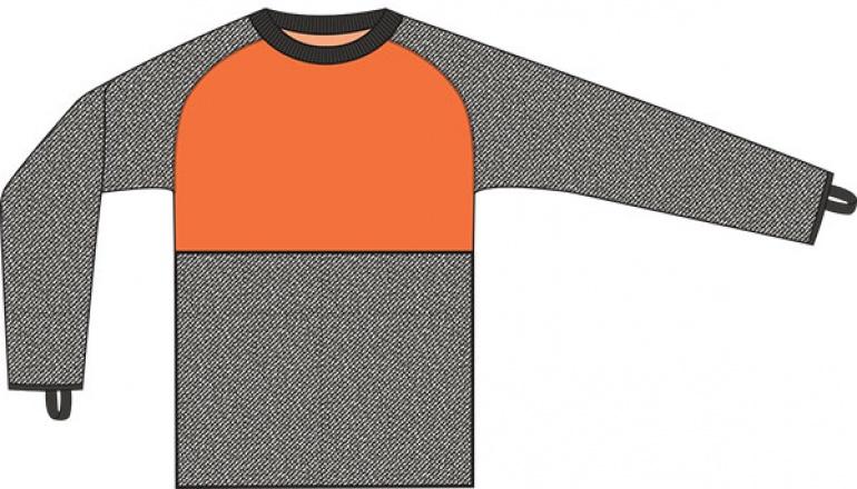 CutPRO® Crew Neck Armguard Shirt with Belly Patch