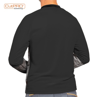 Back Black Crew Neck With Belly Patch