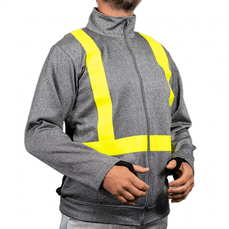 Zipped Jacket with Hi Vis Tape