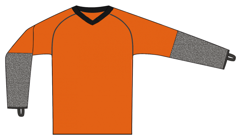 CutPRO® Top with Crew Neck and Forearm Protection