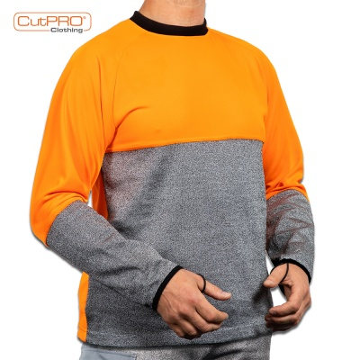 Cut Resistant Top - Crew Neck and Belly Patch