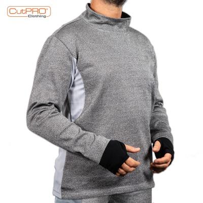 Cut Resistant Sweatshirts with Turtleneck