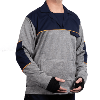 Cut Resistant Pullover Top - Workwear Collar