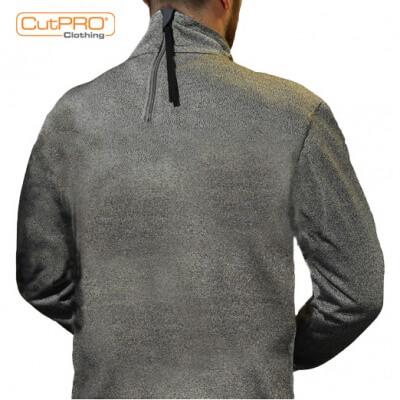 Turtleneck Top with Rear Half Zip and Thumbholes