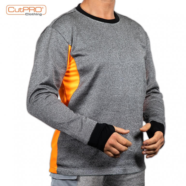 Cut Resistant Sweatshirts with Crew Neck