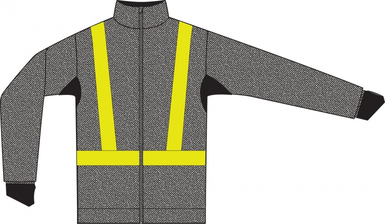 Cut Resistant Jacket Zipped - Hi-Vis Tape and Breathable Underarms
