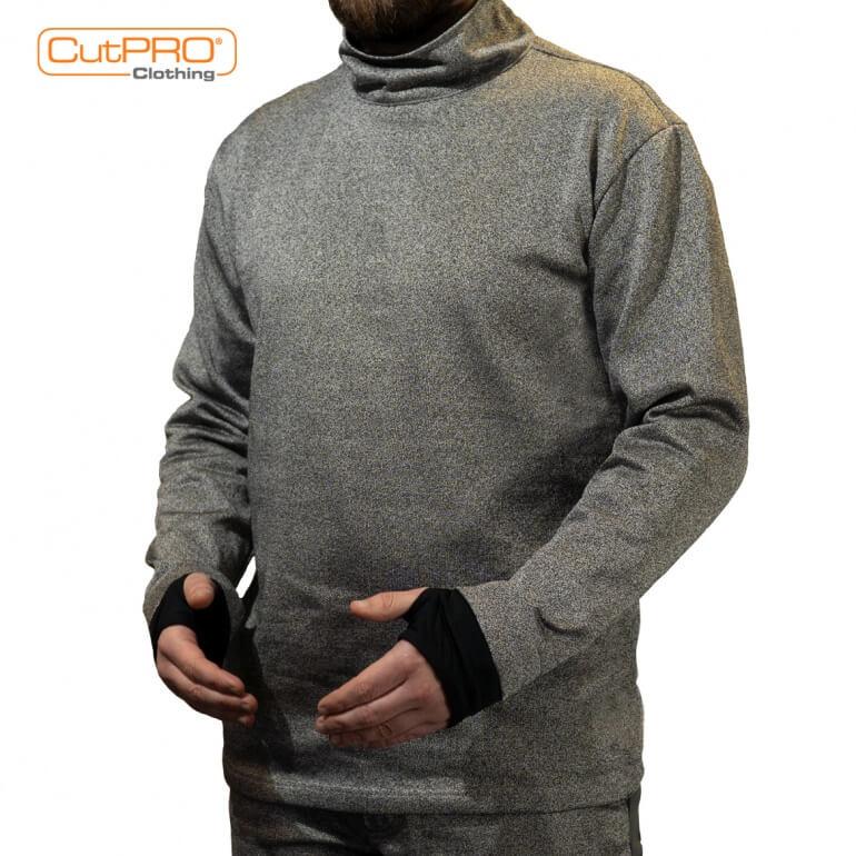 CutPRO® Turtleneck Top with Rear Half Zip