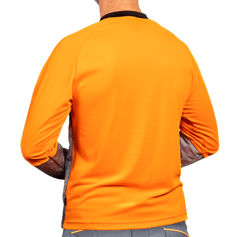 Cut Resistant Top - Crew Neck and Belly Patch rear
