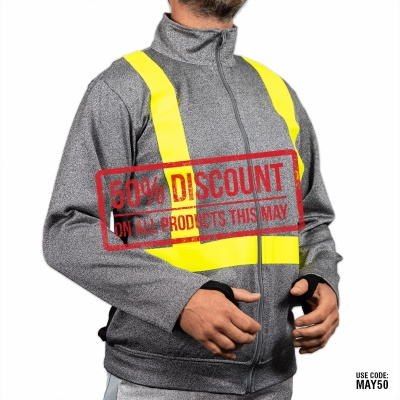 Cut Resistant Jackets Zipped with Hi Vis Tape